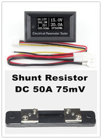 DC 100 V 50A LED Numérique actuel power Temps température capacité Amp Voltmètre Voltmètre Ampèremètre + 50A Shunt
