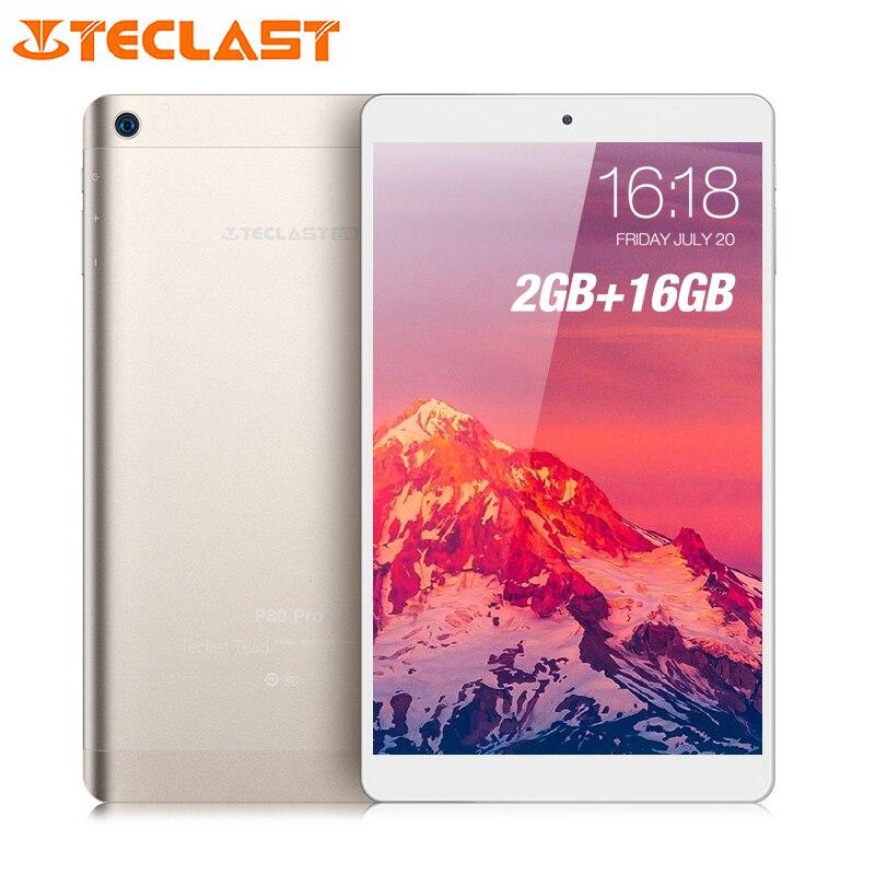 Teclast P80 Pro Tablet PC 8,0 дюймов Android 7,0 MTK8163 4 ядра 1,3 ГГц 2 ГБ Оперативная память 16 ГБ eMMC Встроенная память двойной камеры двойной Wi-Fi HDMI