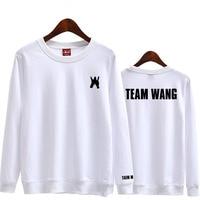 Nueva llegada Got7 Jackson equipo Wang mismo impresión o cuello/lana camiseta para Kpop fans moda suéter unisex sudadera con capucha