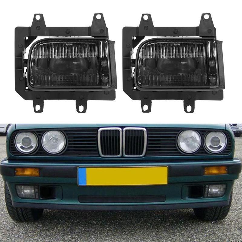 VODOOL 2 pièces voiture pare-chocs avant antibrouillard lumière Auto extérieur remplacement antibrouillard lampe assemblée avec ampoules pour BMW E30 318i 325i 1985-1993