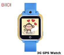 Biidi Smart watch Kids Wristwatch G75 3G GPRS GPS Locator Tracker Smartwatch Baby Watch With Camera For IOS Android