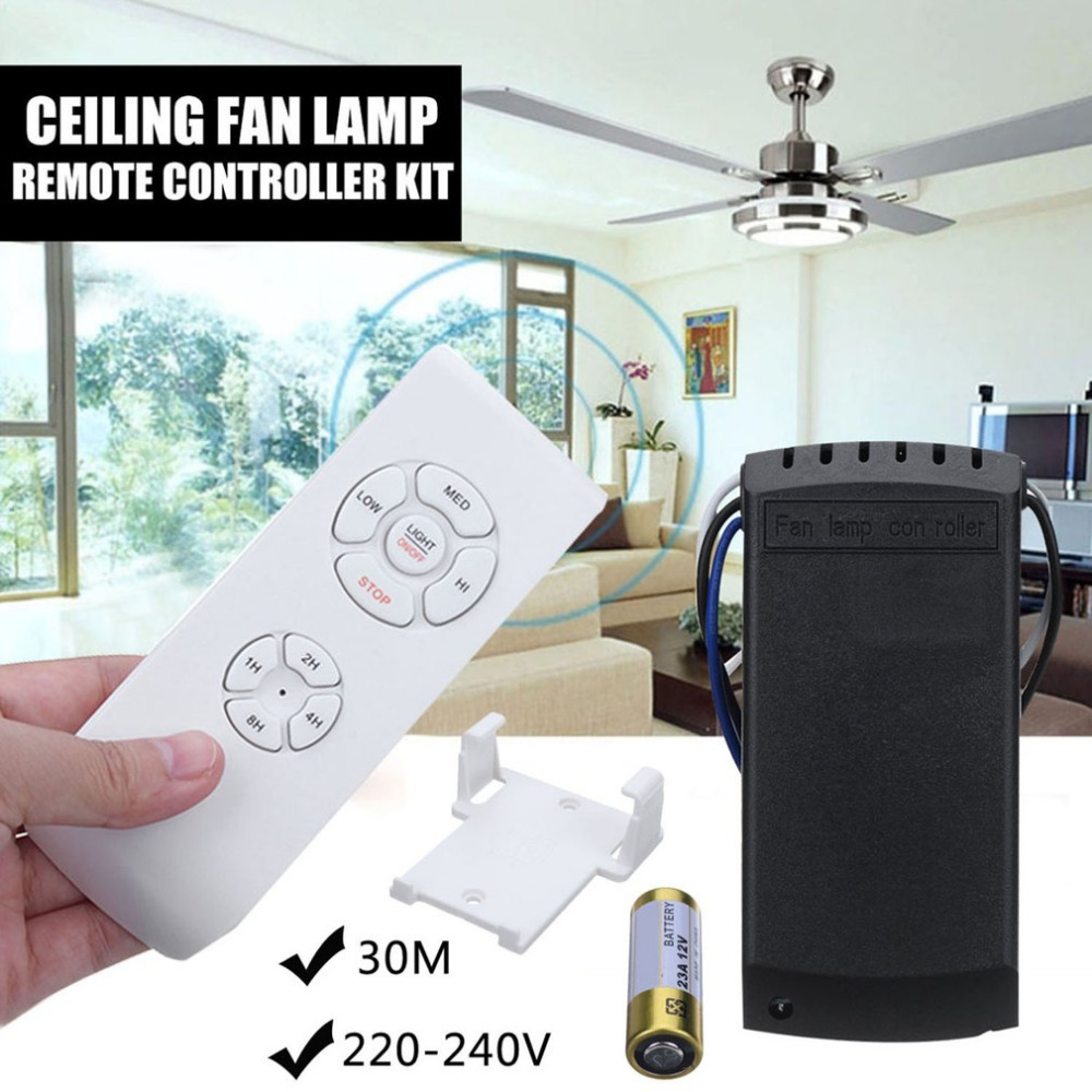 Universal Long Remote Distance Home Use Wireless Ceiling Fan Lamp Remote Controller +Tim ...