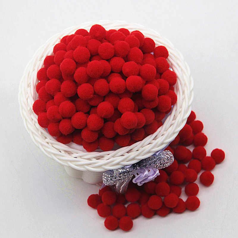 สีแดง Pompom 8mm 10mm 15mm 20mm 30mm Pom Poms Ponpon หัตถกรรม DIY สำหรับเด็กของเล่นเย็บเสื้อผ้าบ้านงานแต่งงานตกแต่ง 20g