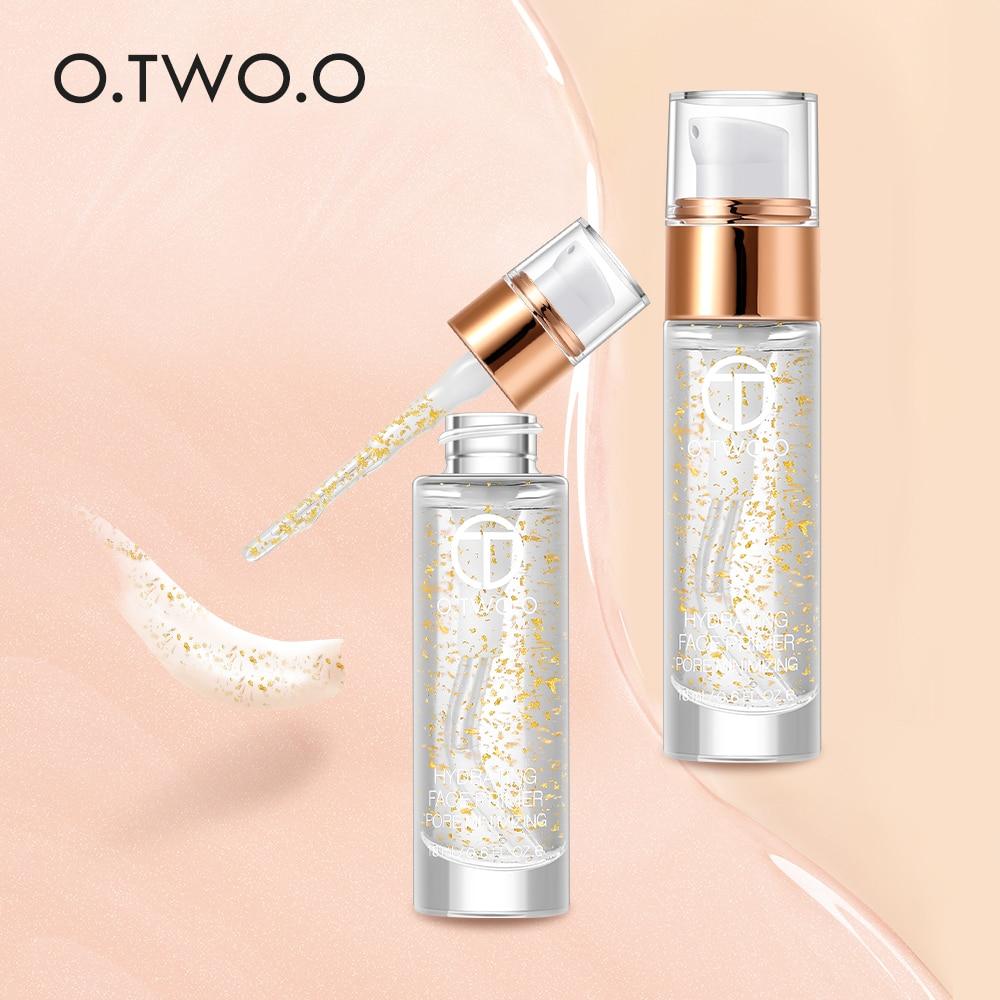 O.TWO.O profesional 24k oro rosa Elixir imprimación de maquillaje hidratante antiedad cuidado de la cara aceite esencial maquillaje Base líquido 18ml