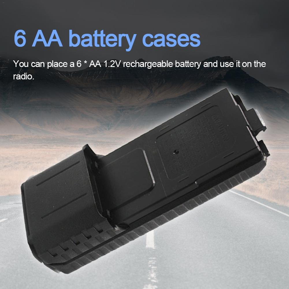 6 AA Battery Case Storage Box For Baofeng UV-5R UV-5R+Plus UV-5RB UV-5RE UV-5RE+Plus TYT: TH-F8 TH-UVF9 TH-F8D 9D Two Way Radio
