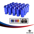 PQY RACING- Forged 7075 Aluminum Lug Nuts  M12*1.25 or M12*1.5, L=50mm  LIGHT WEIGHT WHEEL NUTS RACING LUG NUTS (20pcs/set)