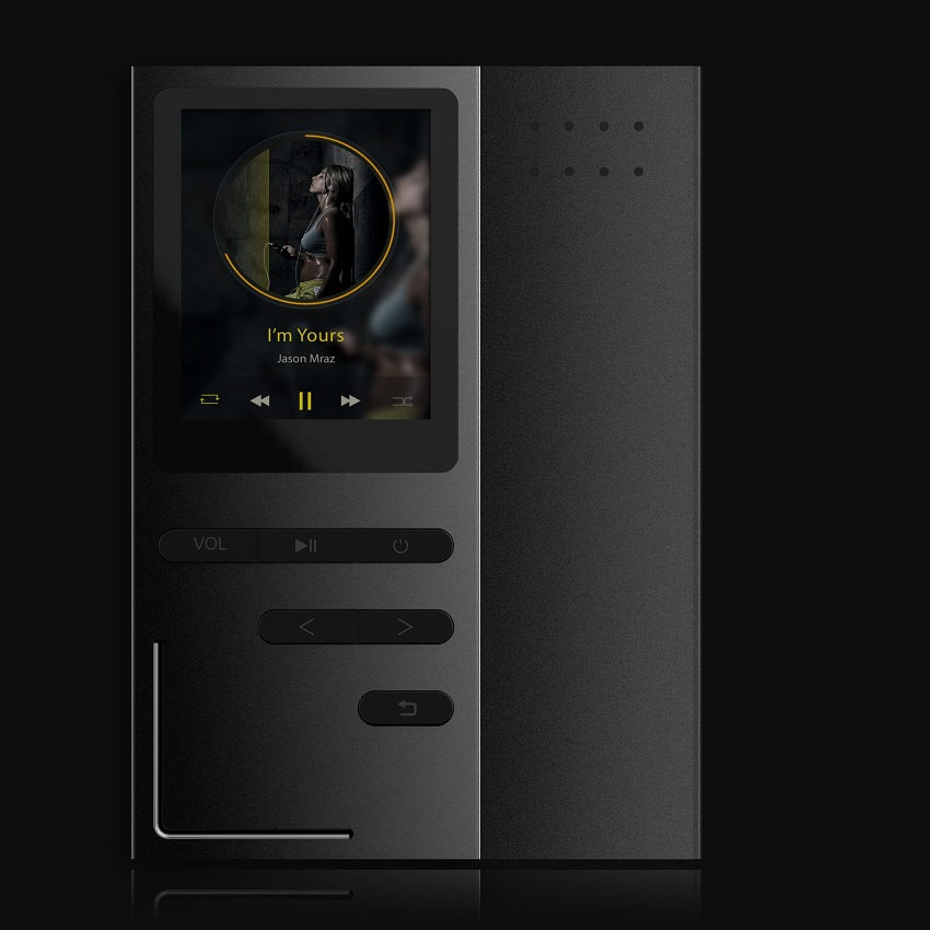 GERUIDA NEW MP4 Music Player, Full Metal MP4 Player With Voice Recorder Loudspeaker Support TF Video FM Watch E-Book Pictures