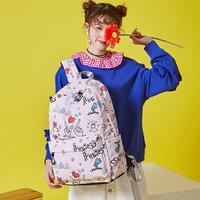 2018 Chica de La Universidad Mochila de Lona Impresión Mochilas Escolares Mujeres Mochila princesa Adolescente Bolso de Libro Del Estudiante de Muy Buen Gusto bolsas de hombro