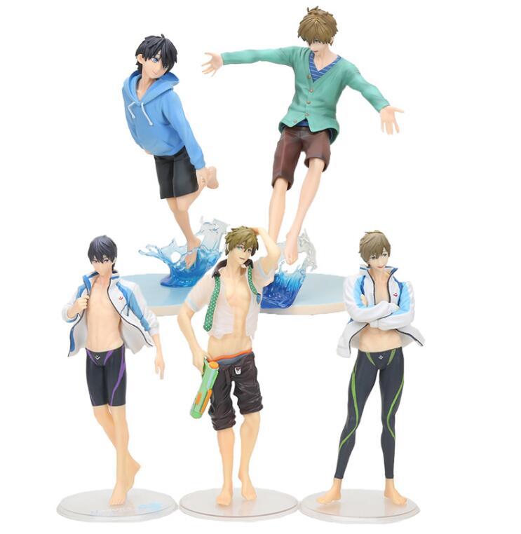 20cm 2018  Anime Free! Summer Iwatobi Swim Club Haruka Nanase Tachibana Makoto PVC Action Figure Collectible Model Toy
