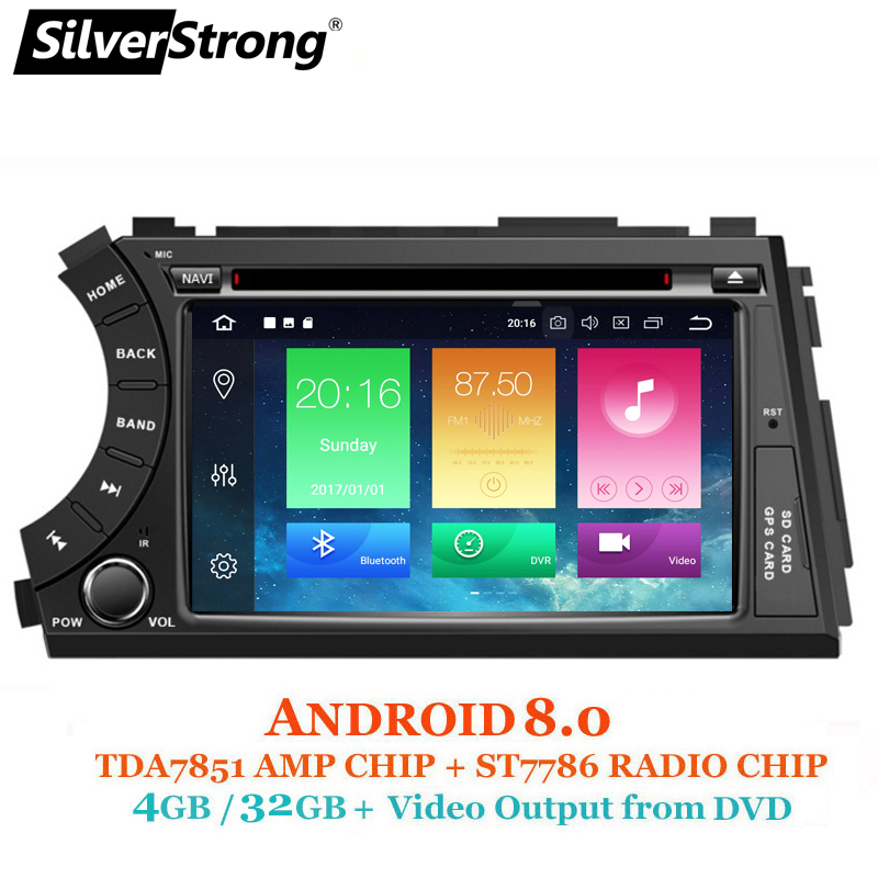 SilverStrong 2DIN Android8.0-8.1 4g 32 gb OctaCore GPS del DVD Dell'automobile Per SsangYong Actyon Kyron 2G16G DSP WiFi OBD DAB +