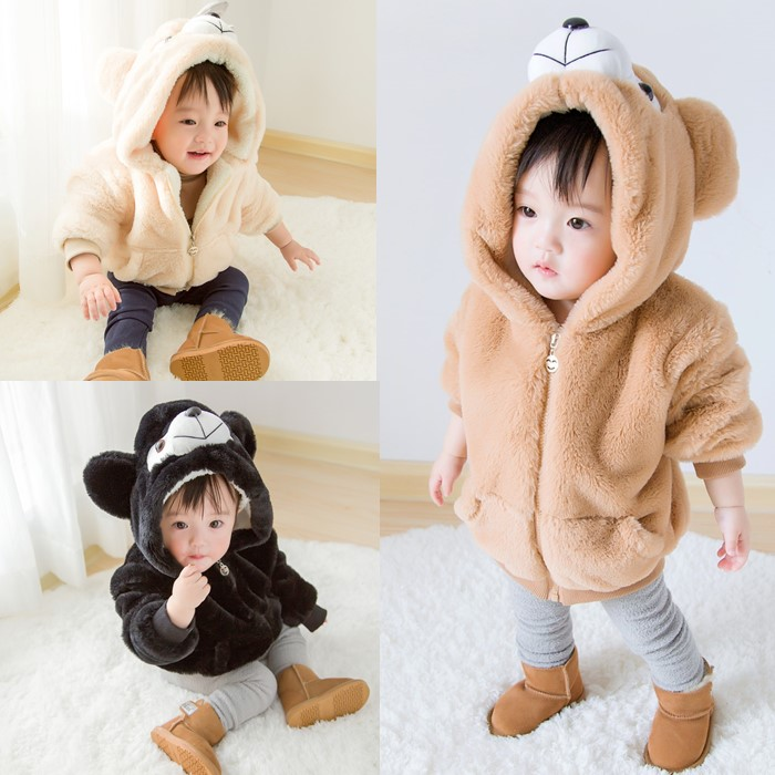 2017 Cartoon Children Fur Winter Coat Jacket for Girl and Boy Clothes Imitation Fur Baby  Coat Thick Wool Cardigan Sweater Coat girl s winter imitation fur coat 2017 girls thick fluff warm coat children baby clothes kid thick plus velvet coat