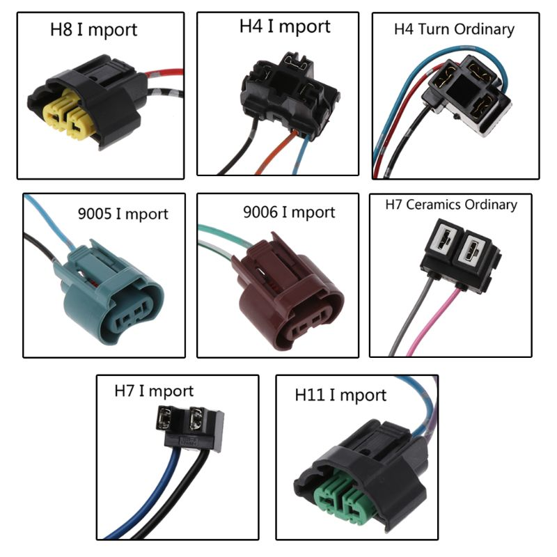 2019 New Hot New 1 Pc  H8/H4/H7/H11/9005/9006 Auto Car Halogen Bulb Socket Power Adapter Plug Connector Wiring Harness