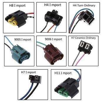 2019 nuevo caliente nuevo 1 Pc H8/H4/H7/H11/9005/9006 Auto bombilla halógena del coche enchufe adaptador de corriente conector cableado arnés|Cable|Automóviles y motocicletas -