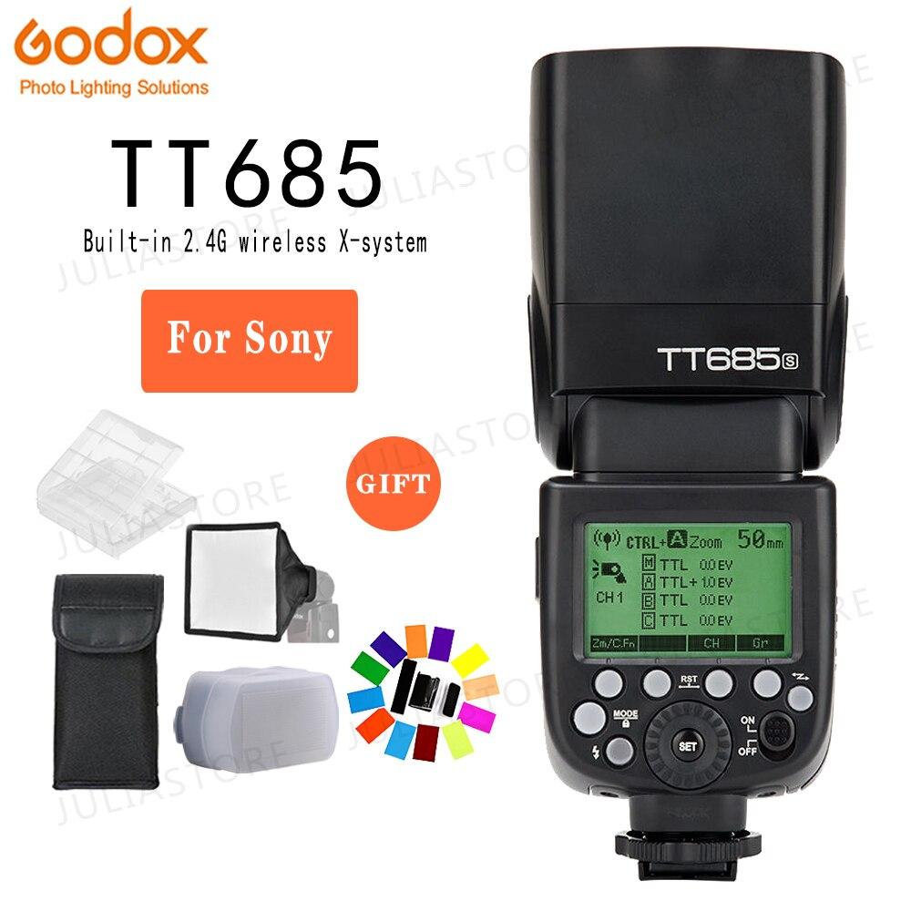 Godox TT685S 2.4G HSS 1/8000 s i TTL GN60 Draadloze Speedlite Flash voor Sony A77II A7RII a7R A58 A99 A6300 A6500 + Gift Kit-in Flitsen van Consumentenelektronica op  Groep 1