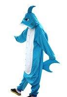 Унисекс для взрослых детей kugurumi животных Пижама Костюм для вечеринки на Хэллоуин Косплэй Домашняя одежда Lounge одежда акула