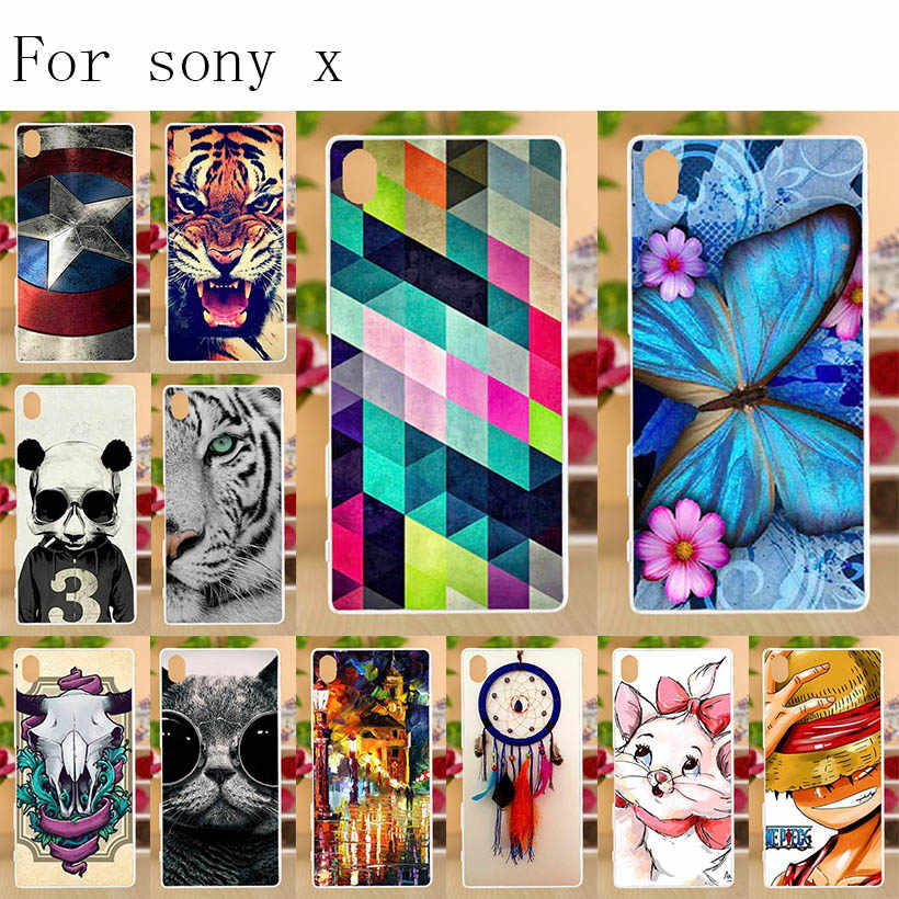 """Anunob Per SONY Xperia X F5121 Dual F5122 Cassa Molle Del Silicone di TPU Fundas Coque 3D per la Copertura di Sony Xperia X f5121 F5122 5.0 """"Del Respingente"""