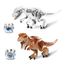 Jurassical Dinosaur world Figures Bricks Tyrannosaurs Rex Building Block Toys Compatible With Dinosaur Toys haogaole 300pcs star wars white clone stormtrooper building block bricks figures baby toys compatible with