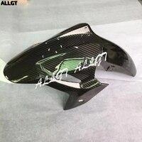 Мотоциклетный брызговик переднее крыло крышка реальный 100% углеродного волокна, пригодный для KAWASAKI NINJA EX400 400R EX 400 2018 Глянцевая труба из углер