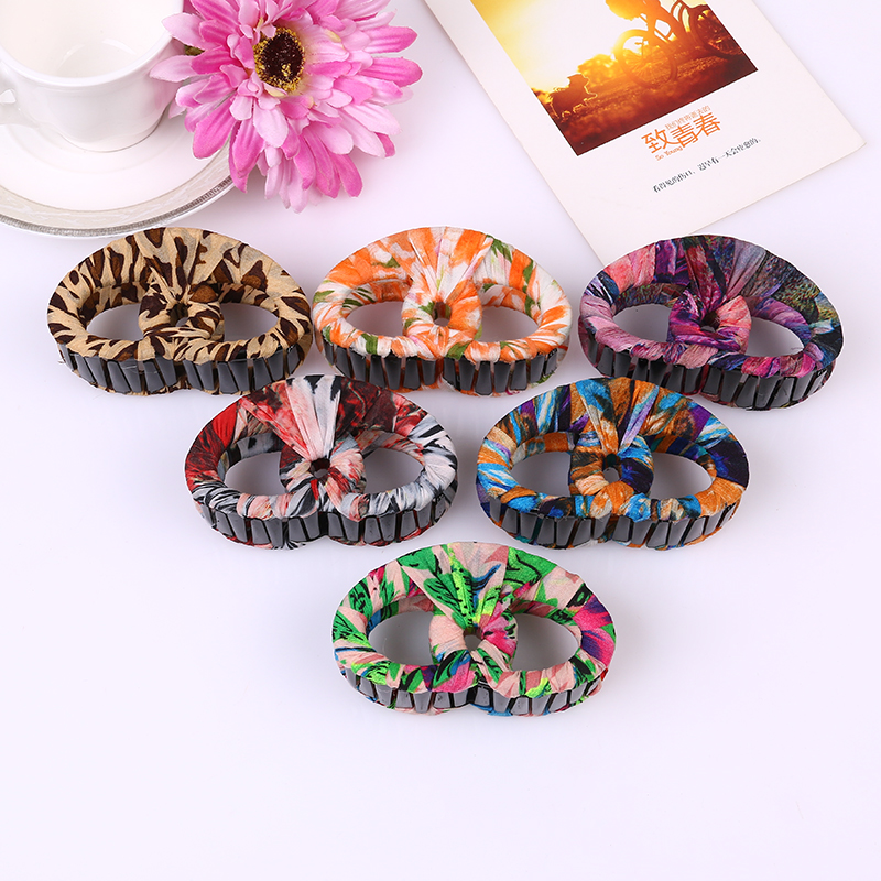2017 newstyle Around cloth Hair Claw Clips Women Banana Barrettes Light brown Hairpins H ...