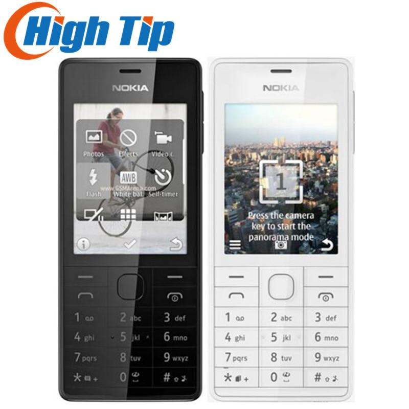 Débloqué Original Nokia 515 2.4 5MP SIM simple ou Double Carte SIM Caméra avec hébreu/Anglais/Russe clavier téléphone