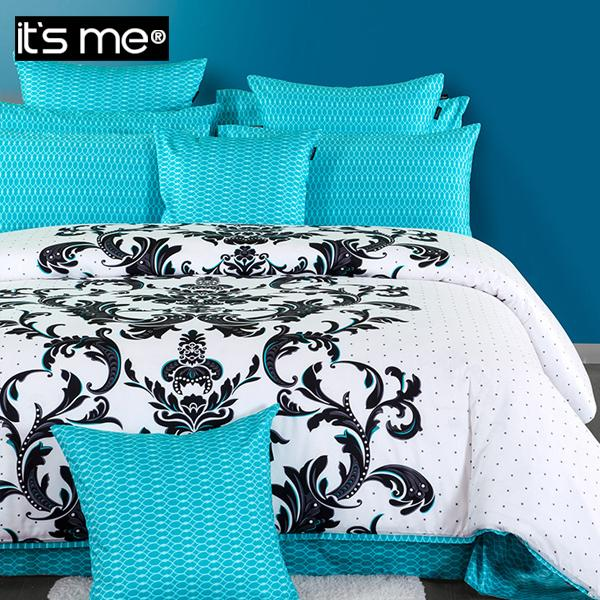 Luxury Fashion Royal Blue Bedding Set Black And White Quality Duvet Covers Ikea Printed Queen Size Comforter King 4pcs Sets In From Home
