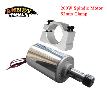 Free Shippin 200W DC Spindle,DC12-48V ER11,12000rpm, Engraving milling grind Diy cnc spindle motor air cooled PCB spindle motor