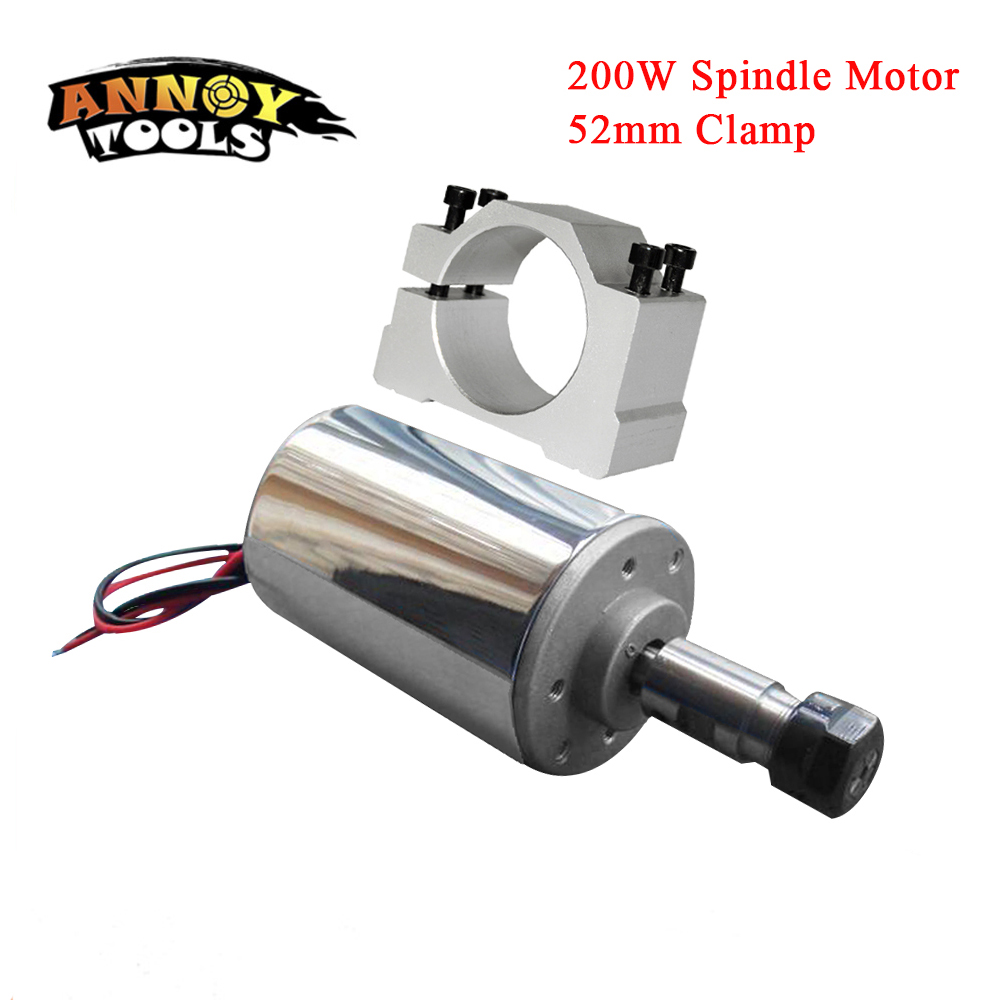 Free Shippin <font><b>200W</b></font> DC <font><b>Spindle</b></font>,DC12-48V ER11,12000rpm, Engraving milling grind Diy <font><b>cnc</b></font> <font><b>spindle</b></font> motor air cooled PCB <font><b>spindle</b></font> motor image