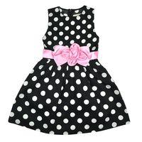 Kids Toddler Girls Princess Dress Sleeveless Polka Dots Bowknot Party Princess Dresses 1 7Y