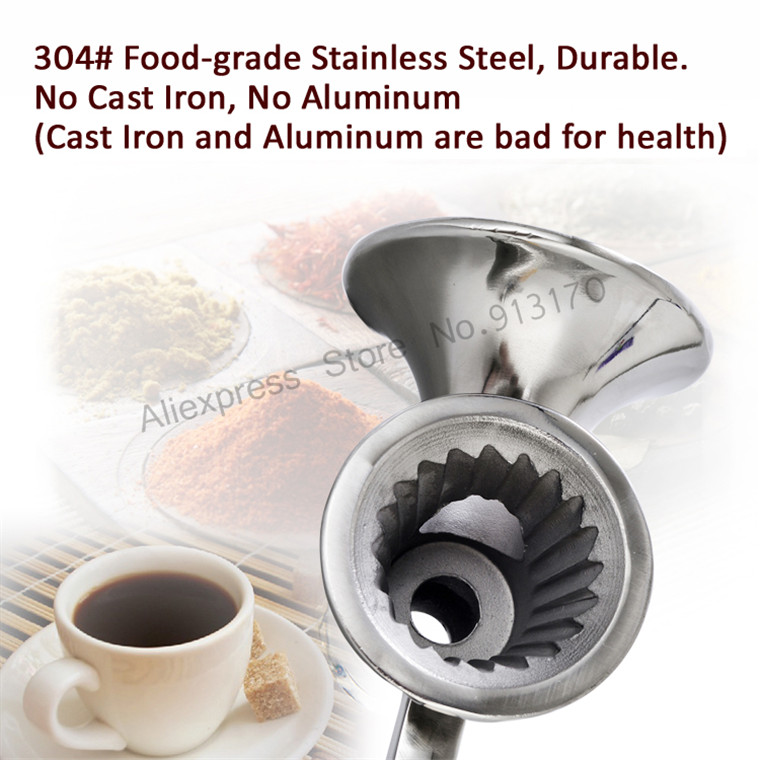 Corn Mill Grinder Stainless Steel Grinding Machine for Peanut Soybean Walnut Coffee Bean Grinding No Cast Iron No Aluminum