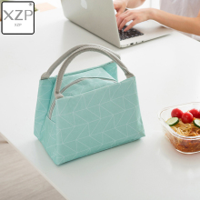 XZP PACGOTH Geometric Leisure Bags Tote Lunch Oxford Portable Simple Style Women Cookers Thermal Convenient