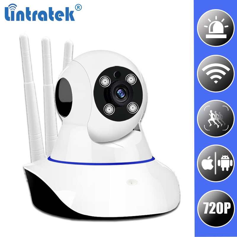 купить Wifi Mini Security IP Camera HD 720P Wireless Onvif P2P wi-fi Home Camara APP Alarm Surveillance CCTV Camera IPCam LINTRATEK