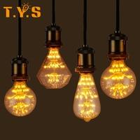 E27 Retro Vintage LED Bulb Lamp GLASS TREE Filament Edison Style Decorative Light Bulb Christmas Decorations