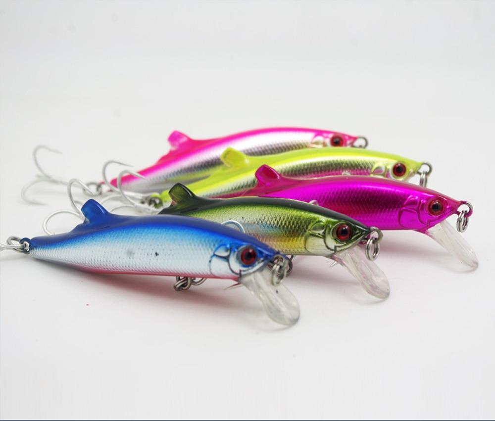 Coloful Sea Fishing long cast Lure Minnow Triple Hook 9cm/27g Free shipping