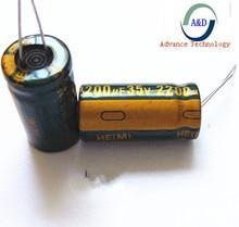 50 шт./лот 35 В 2200 мкФ 13*25 высокочастотный низким сопротивлением алюминиевый электролитический конденсатор 2200 мкФ 35 В