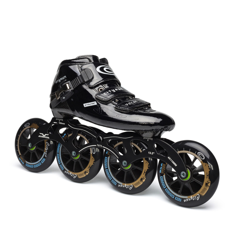 Japy Cityrun Speed Inline Skates Carbon Fiber Professional Competition Skates 4 Wheels Racing Skating Patines Similar Powerslide cityrun inline speed skate frame 3 125mm 12 6 aluminum alloy 7075 for 3 wheels speed skating shoes basins free shipping bases
