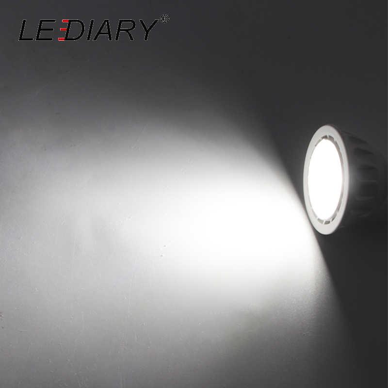 LEDIARY MR16 GU5.3 หลอดไฟ LED Spotlight 5W 12 V/100-240 V 220V 110V สีขาวพีซี JCDR อบอุ่น/เย็นสีขาว 35 องศา Beam มุม CE