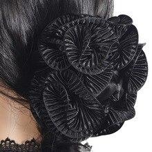 Femmes Magnifique Grand Satin Griffe Clip Cheveux Griffes Pince Partie Cheveux Accessoires
