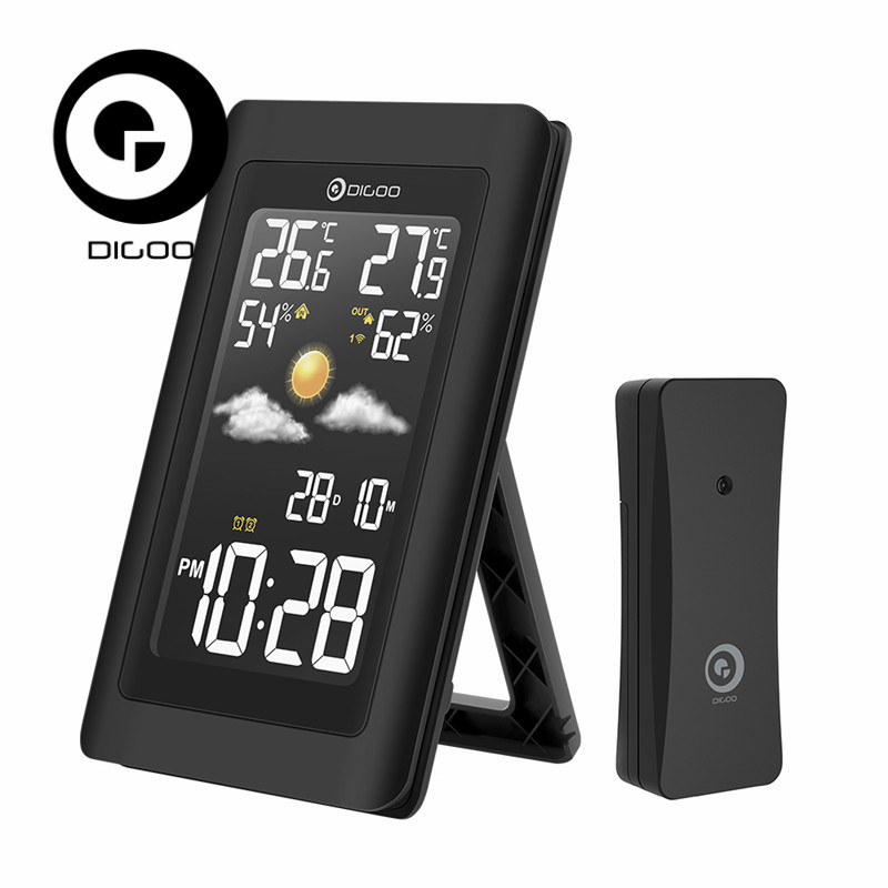 Digoo DG-TH11300 TH11300 Wireless HD Screen USB Outdoor Weather Station VA Glass Hygrometer Thermometer Forecast Sensor Clock