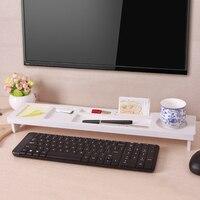 Hot Selling Multifunctional thickening desktop keyboard desktop shelf storage rack finishing frame white Storage Holders