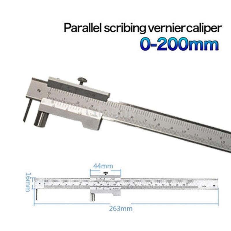 200mm Stainless Steel Parallel Marking Gauge Vernier Caliper Accessories Useful