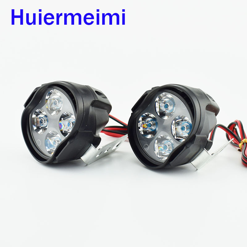 Motorcycle Headlight Scooter Fog Spotlight 12V LED Motorbike ATV Moto Working Spot Light Head Lamp  6500K White DRL Car Headlamp