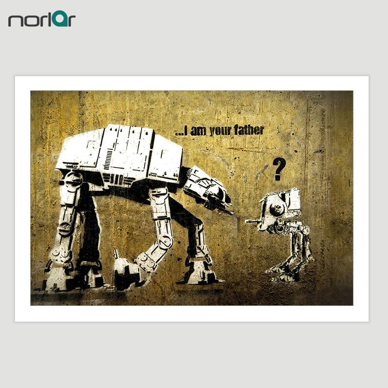 HD Printed Bansky Street Art Graffiti Funny Star Wars