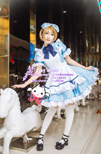 LoveLive! Koizumi Hanayo Cosplay Alice Maid Dress Fancy Dress Halloween Adult Costumes for Women Cosplay Costume Custom Any Size nekopara cosplay chocolat maid costume any size