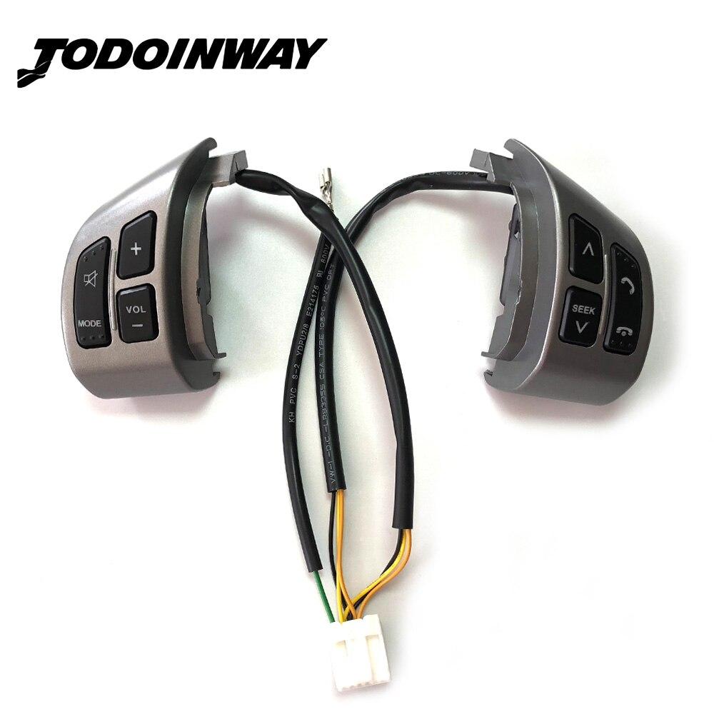 Steering Wheel Button Switch Audio Volume Bluetooth Phone Media Control Button Switch For Suzuki SX4 Swift 2006 2013