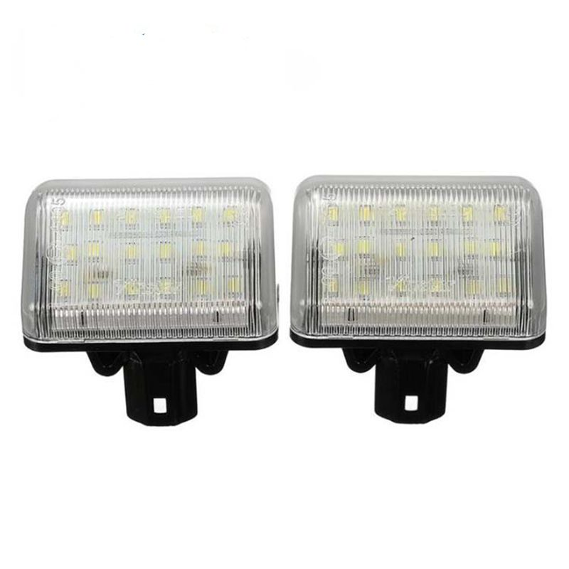 Hot Selling <font><b>LED</b></font> Car License Plate <font><b>Light</b></font> Lamp For <font><b>Mazda</b></font> CX-5 CX-7 Speed6 12V 2Pcs White Number Plate Lamp <font><b>Bulb</b></font> image