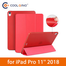 TPU Soft Tablets Case For iPad Pro 11 2018 Tri-folded Smart Wake/Sleep Cases Shell Protective Covers
