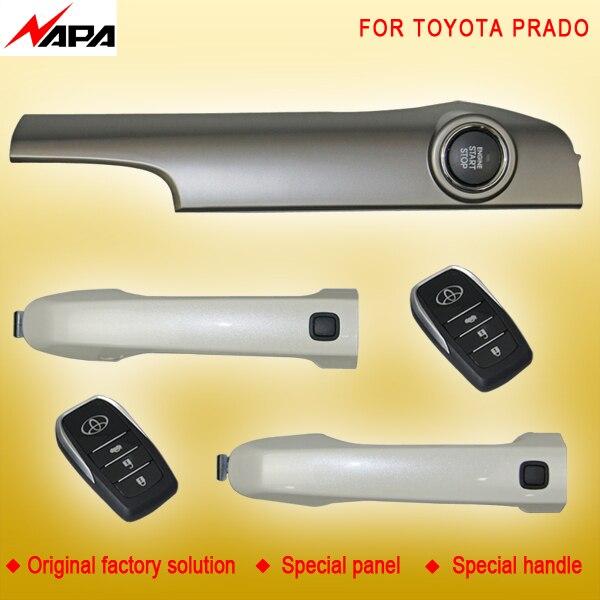 Démarrage automatique sans clé de voiture avec poignée intelligente déverrouiller le système d'alarme de démarrage à distance pour toyota prado
