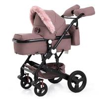 Wisesonle carrinho de bebê bidirecional carrinho de amortecedores de alta qualidade 2in1 bluetooth pode sentar qualidade livre em RU