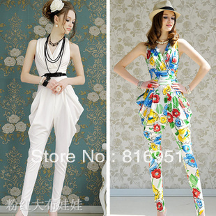 Aliexpress.com : Buy floral jumpsuits white jumpsuit for women ...