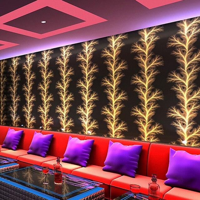 Modernes Design Abstrakte Goldene Feuerwerk Tapete 3D Zimmer KTV Bar ...